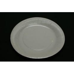 100 assiettes en carton blanc 23cm