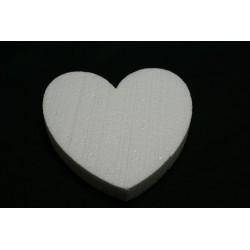 cœur 20x20x2.9 cm en polystyrène :