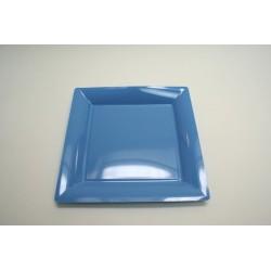 vaisselle : 12 assiettes carrées 21.5 cm ciel