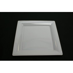 vaisselle : 12 assiettes carrées 30 cm blanche