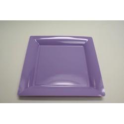 vaisselle : 12 assiettes carrées 30 cm parme